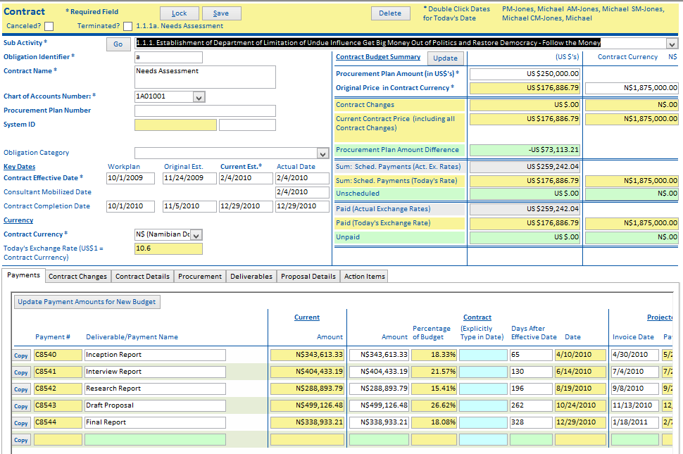 Contract Management System : Integrated project management system cronin technology